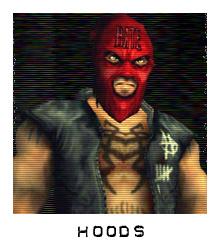Characters hoods