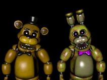 Golden Freddy and Golden Bonnie