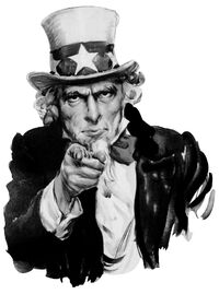 Uncle Sam pointing finger