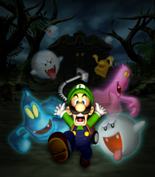 Luigi Mansion promo artwork