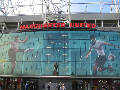 Rooney and Ronaldo at old trafford