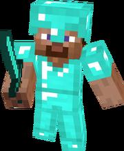 Minecraft Steve Diamond Armor