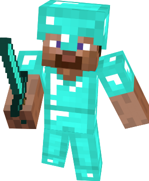 File:Minecraft Steve Diamond Armor.png