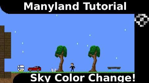 Manyland Tutorial Sky Color!