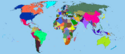 Coloured world map by dinospain-darxb5u
