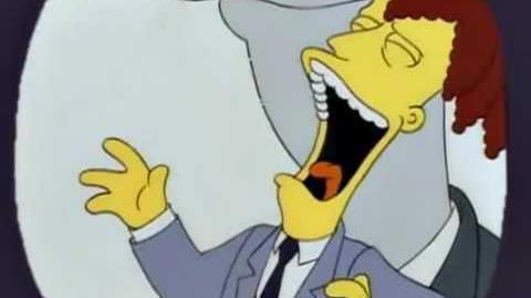 Risa malévola actor secundrio Bob Los Simpson