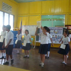 Dance lessons at Haruko's school.