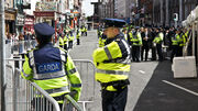 Garda Officers roadblock