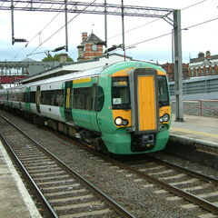 A prototype electic train at Waterford Cental Station in AF 1017.5.