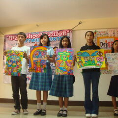 Haruko's school's art classes.