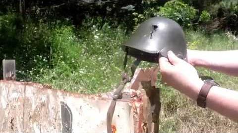 Ballistic Test Romanian M73 80 Helmet.