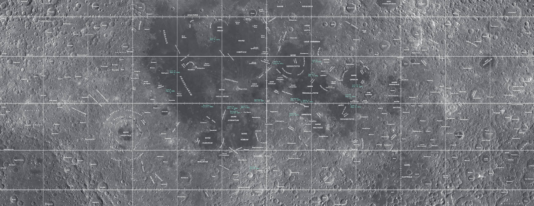 USGS Lunar Map Visual Mercator