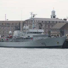 The <i>ONV Felix</i> and <i>ONV Shamrock</i> look like offshore patrol vessel <i>ONV Seagull,</i> moored in New Belfast, that was built in 999AF.