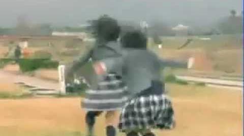 Haruko (short hair) brawls again.