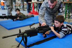 Child with Kriegswehr soldier