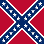 Battle flag of the Confederate States (Two Americas)