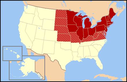 US map-North