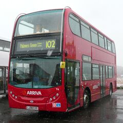 The new buses on the Palmer Green, Murphy Park, Isla Park, Barrow End and Croydon Lane route.