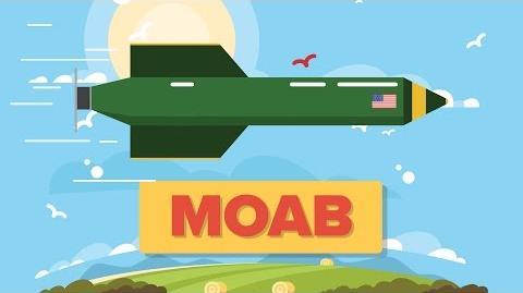MOAB - Mother of All Bombs GBU-43 B Massive Ordnance Air Blast - US Military