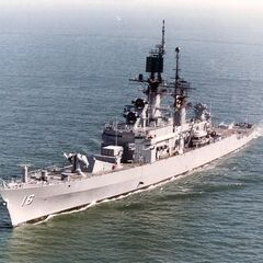 The Frigate <i>ONV Beer</i> was built in 970AF and mothballed at Carickfugus in 990AF