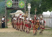 Roman camp re-enactment