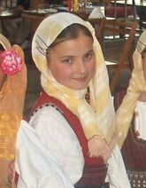 Macedonian girl in folk dress