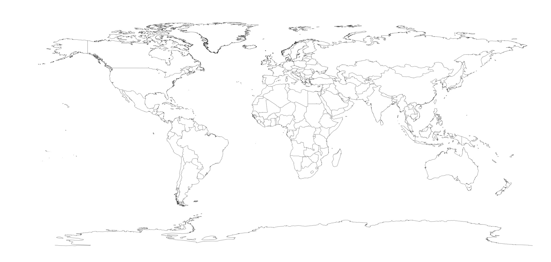 Royalty Free World Map
