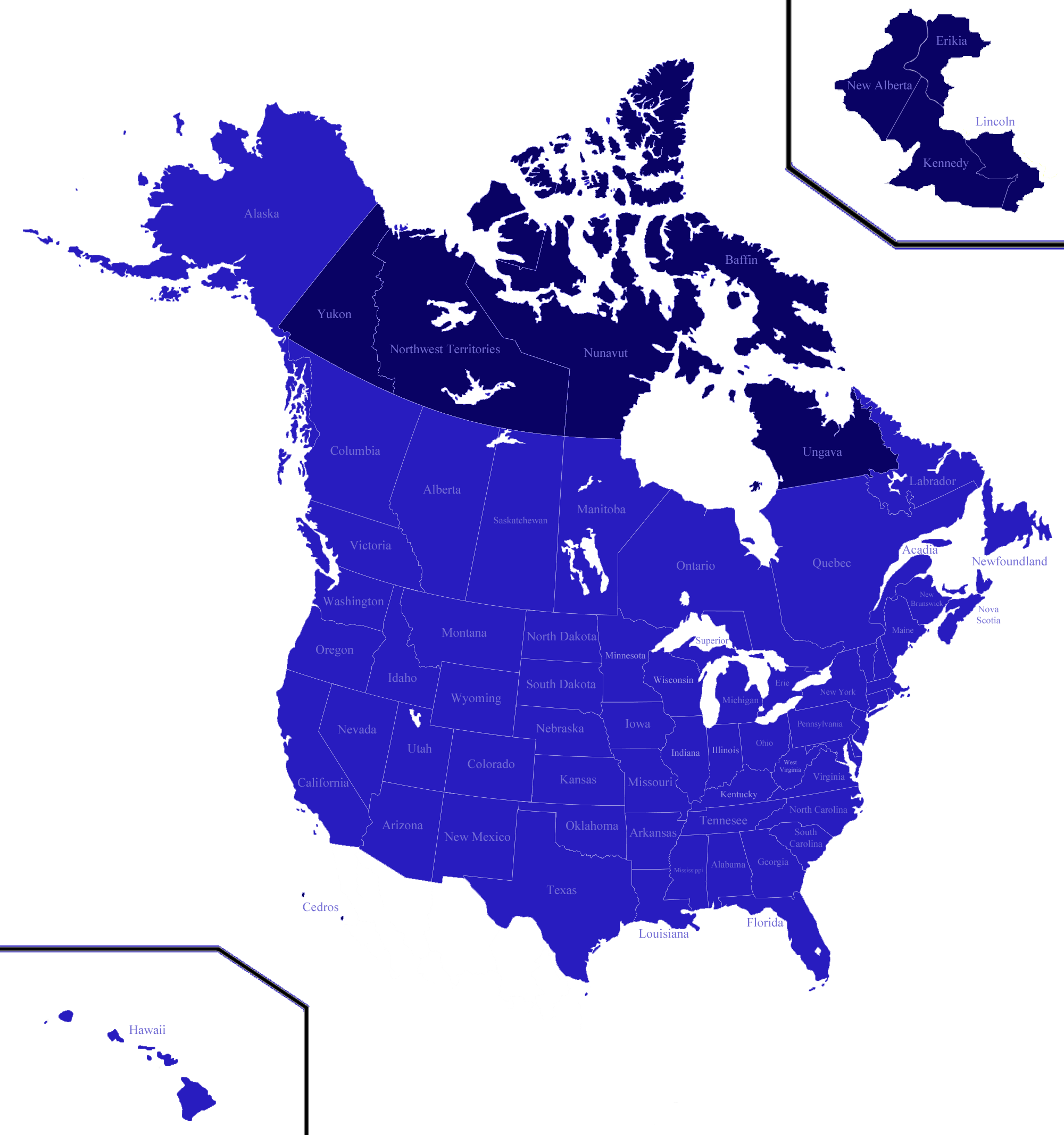 Image North American Unionpng Map Game Wiki FANDOM powered