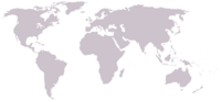 Blank map of world no country borders