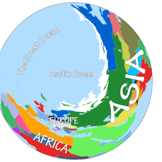 Northern hemisphere map.