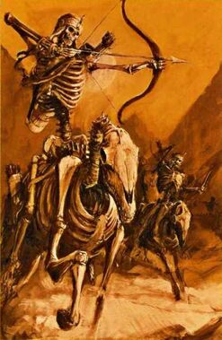 Jinetes Esqueleto con Arco