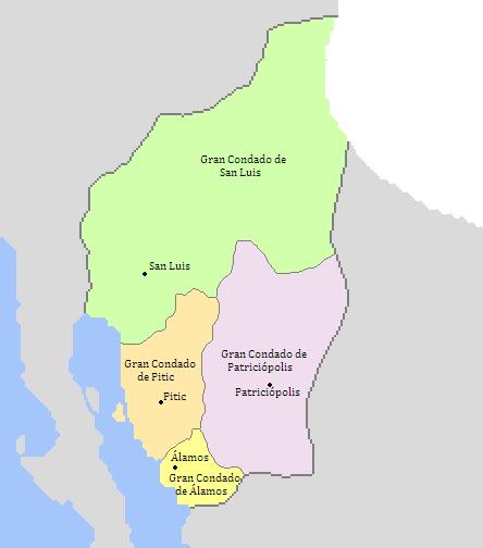 Subdivisiones Mayores del Gran Principado de Sonora (Dinastias) - 1