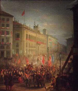 Recibimiento de las Tropas españolas en Madrid