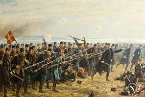 Soldados daneses acupando el norte
