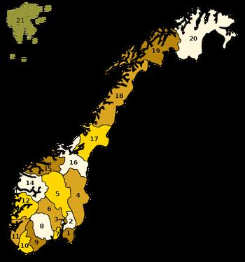 Provincias de Noruega