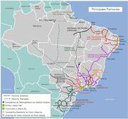 Brazil Main Railways Map 2