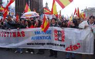 Manifestantes falangistas