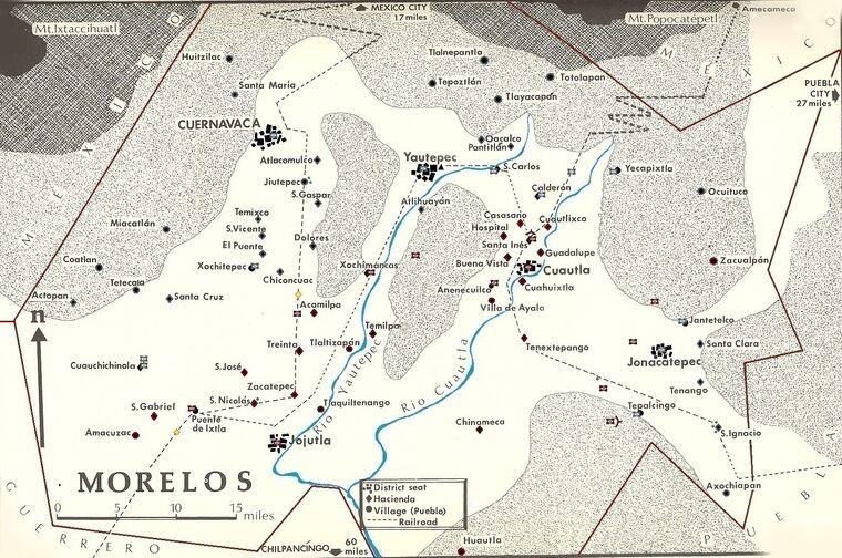 Morelos mapa 1912