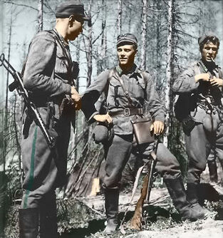 Soldados Finlandeses en Suecia