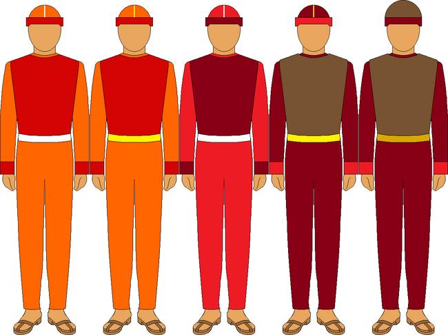 Quixóaaj (Guerra Tribal) - Uniformes