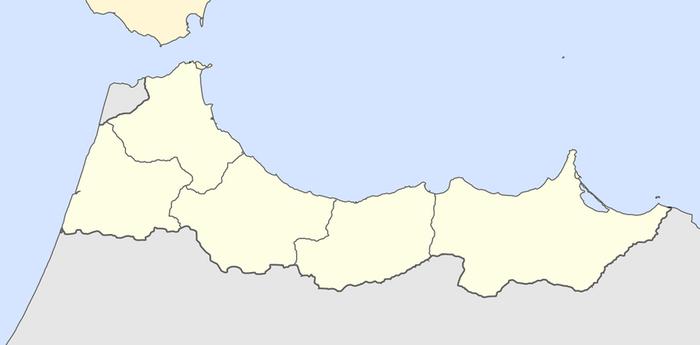 Mapa del Protectorado Español de Marruecos