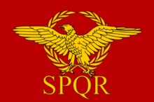 Imperio romano bandera