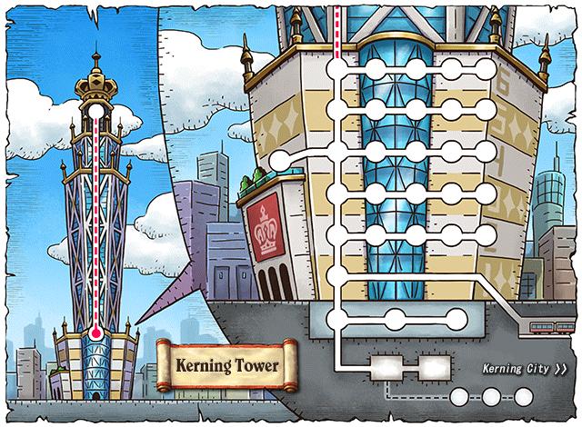 WorldMap Kerning Tower