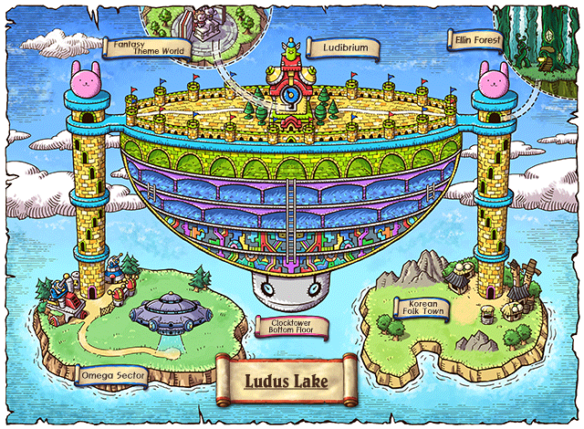WorldMap Ludus Lake