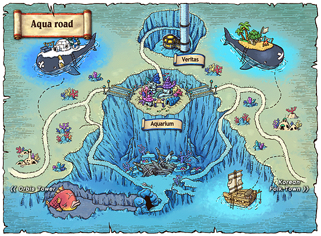 WorldMap Aqua Road