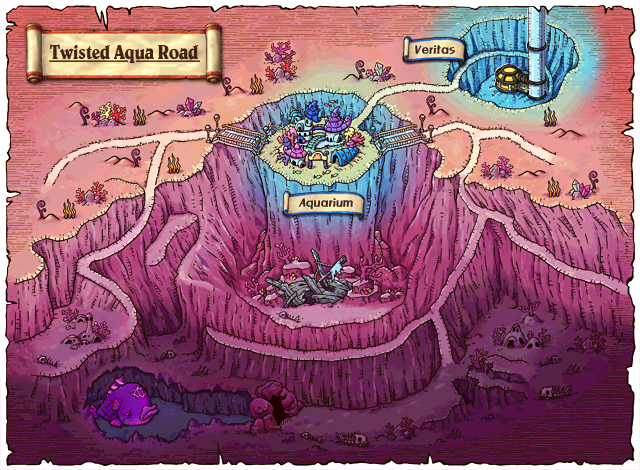 WorldMap Twisted Aqua Road