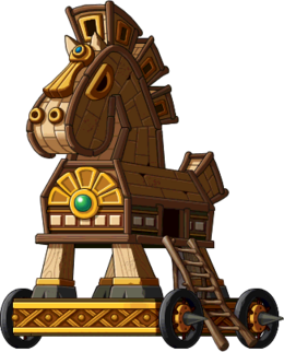 Mob Large Wooden Horse