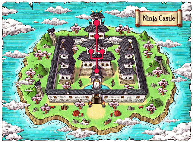 WorldMap Ninja Castle