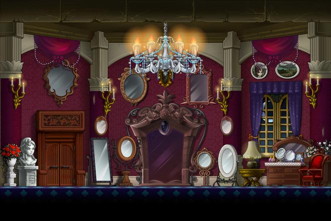 Map Vanity Room