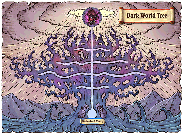 WorldMap Dark World Tree